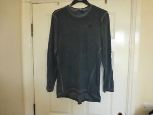 Adidas long sleeved grey top Size M, motif on front/back