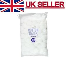 100 x Pure Cotton Wool Balls Face Make Up Nail Polish Remover Absorbent