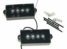 * NEW Alnico 5 for Fender Precision P Bass PICKUP SET Strat Pickups Black Covers