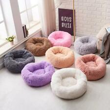 Pet Calming Soft Bed Round Nest Faux Fur Donut Cat Dog Beds Self Warming SofaUK