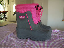 TOTES Girls Gray and Pink Winter BOOTS Style Jean size 12M (9 3/4 inch)