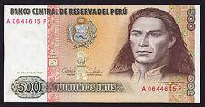 Peru Banknote 500 Intis 1987 P-134b UNC