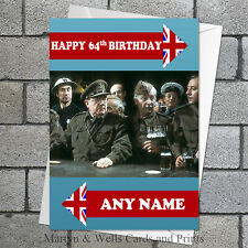 Dad's Army birthday card. 5x7 inches. Personalised plus envelope. Dads original.