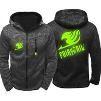 Fairy Tail Hoodie Sporty Sweatshirt Cosplay Luminous Jacket Sportswear
