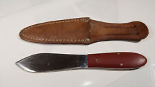 w Case XX Model 303 Throwing Knife with Leather Sheath