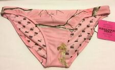 Realtree Girl RG Womens Junior Large Swimsuit Bikini Bottoms ONLY Pink Camo NWT