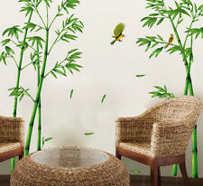 Large Bamboo Bird Wall stickers Decals Decor Art Mural DIY Decor PVC Removable