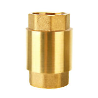 """3/4"""" NPT Pipe Threaded Brass In-Line Spring Check Valve Inline One Way Copper US"""