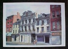 Trenton NJ Scene North Warren St Signed Limited Ed Print by Marge Chavooshian