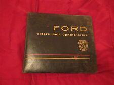 1961 FORD STARLINER GALAXIE SUNLINER THUNDERBIRD COLOR UPHOLSTERY DEALER ALBUM