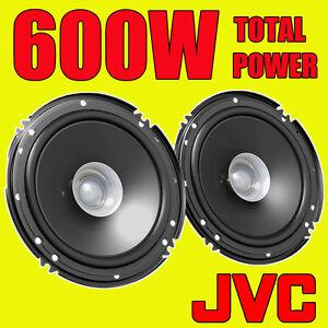 JVC 600W TOTAL DUALCONE 6.5 INCH 16cm CAR DOOR/SHELF COAXIAL SPEAKERS PAIR
