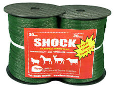 Electric Fencing Twin Pack Dark Green 20mm Tape
