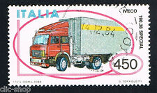 ITALIA 1 FRANCOBOLLO MACCHINA AUTOTRENO IVECO AUTO 1984 usato