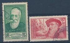 CO - TIMBRE DE FRANCE N° 343 et 344 oblitérés
