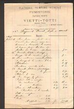 """MURAT (15) PLATRERIE PEINTURE VITRERIE """"Maison TOURNADRE / VIETTI & TOTTI"""" 1907"""