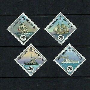 Ascension Island: 1988  Ships of the Royal Navy  MNH set