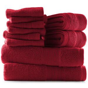 10 Piece Towel Set Ultra Soft 100% Cotton Towels Bath Hand & Washcloths Set