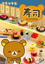 Re-ment Miniature San-x Rilakkuma Sushi Restaurant rement Full set of 8