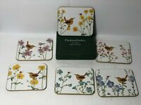 Charleston Gardens Wren & Flowers Coasters Set of 6 by Robbin Rawlings ~ NIB ~