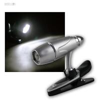 LED Lámpara con pinza / Luz Lectura Giratorio Ajustable, batería de