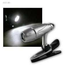 LED Clamp lamp/Reading light rotary swivelling, Reading with battery