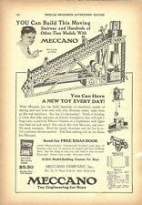 Meccano Company 2 print ads Popular Mechanics Youths Companion 1925