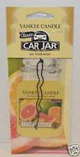 1 NEW YANKEE CANDLE CITRUS TANGO CLASSIC CAR JAR AIR FRESHENER HANGING RV CLOSET
