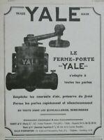 PUBLICITÉ DE PRESSE 1926 TRADE YALE MARK - LE FERME-PORTE YALE