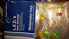 Miniatronics LEDs 5mm Blinker Flasher Red/Yellow/Green 18 pcs 12-050-18 NIP