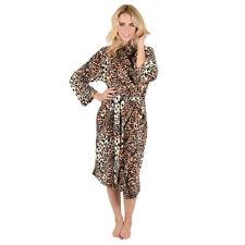 Knee Length Animal Print Fleece Nightwear for Women