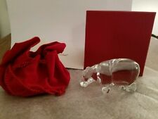 MINT in BOX - RARE BACCARAT Crystal SMALL Hippo Hippopotamus