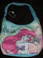 Nwt Disney Ariel Princess Little Mermaid & Sebastian Under The Sea Hobo Tote Bag