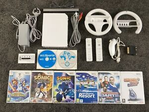 Nintendo Wii White Console Bundle, 8 Games