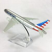 American Airlines B777 Aircraft Model 16cm Die-cast Metal Airplane