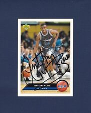 Anthony Bowie signed Orlando Magic 1992-93 Upper Deck basketball card