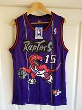 NWT Toronto Raptors Vince Carter Hardwood Classic Throwback Swingman Jersey S