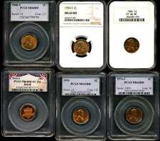 1948-2010 Mixed Lot of 6 Lincoln Cents PCGS & NGC 7795798