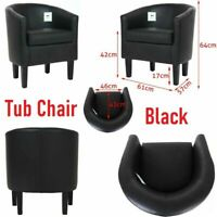 Faux Leather Tub Chair Armchair Sofa Seat Luxury Dining Room Office Reception UK