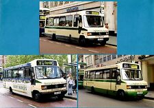 3 Bus Photos ~ Nottingham City Transport - Mercedes 811D Minibuses: 193 194 195