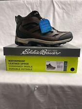 Eddie Bauer Men's Graham Hiking Boots Leather Waterproof Brown Size (8.5-13) New