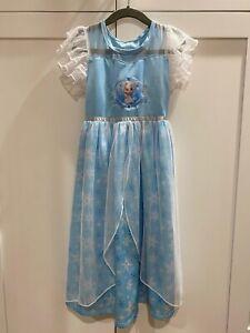 Disney Frozen Elsa Dress Size 6 Excellent Condition FREE SHIPPING