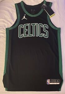 Nike Jordan NBA NO NAME Boston Celtics Authentic Basketball Jersey. Adult M (44)