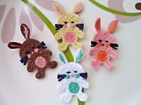 Lot 8pcs Cute Rabbit Machine Crochet Kids Craft DIY Applique Trim 45mm*30mm
