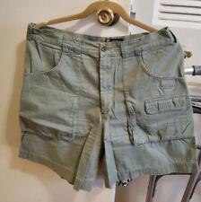 EDDIE BAUER Womens Green Bermuda Cargo Shorts Size 14