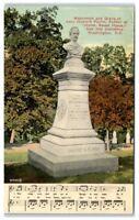 Early 1900s John Howard Payne Monument and Grave, Washington, DC Postcard