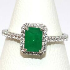 1CT Natural Genuine Colombian Emerald Ring Women Birthday Jewelry Gold Plated