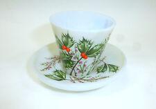 Mistel taza mokkatasse con platillo cristal esmerilado Bohemia para 1900
