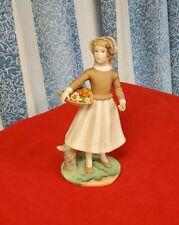 Goebel Laszlo Ispanky Figurine - Betty Jane With Basket Of Flowers 1982
