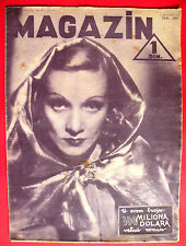 MARLENE DIETRICH ON COVER 1937 UNIQUE VINTAGE EXYU MOVIE MAGAZINE