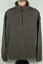 Older/Vtg Eddie Bauer XL Heavyweight Sherpa Fleece Half Zip Pullover Sweatshirt